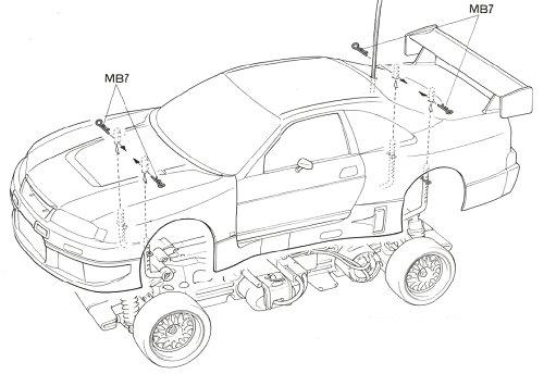 Tamiya Calsonic Skyline GT-R #58191 TL01 Body Shell