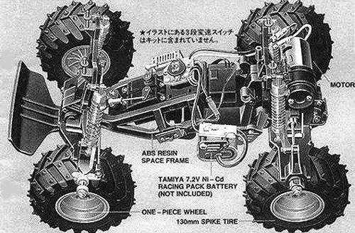 Tamiya King Blackfoot #58192 Chassis