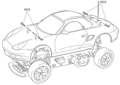 Tamiya Porsche Boxster #58197 M-02L Body Shell