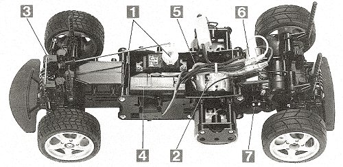 Tamiya Porsche Boxster #58197 M-02L Chassis