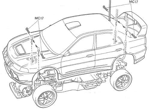 Tamiya Mitsubishi Lancer Evolution IV #58199 TA-03F Body Shell