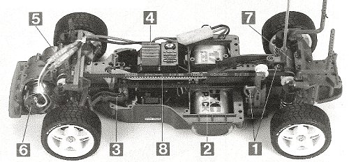 Tamiya Mitsubishi Lancer Evolution IV #58199 TA-03F Chassis