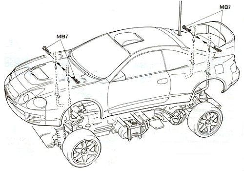 Tamiya Toyota Celica GT-Four 97 Monte Carlo #58201 TL-01 Body Shell