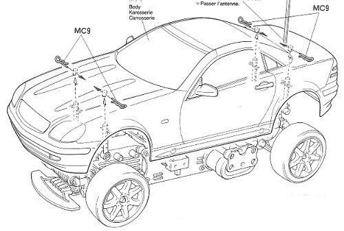 Tamiya Mercedes Benz SLK #58202 M-02L Body Shell
