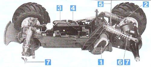 Tamiya Mad Bull #58205 Chassis