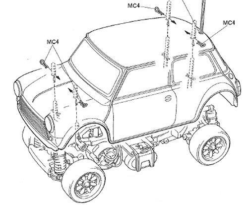 Tamiya Rover Mini Cooper Racing #58211 M-03 Body Shell