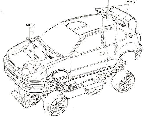 Tamiya Toyota Corolla WRC #58218 TA03F-S Body Shell