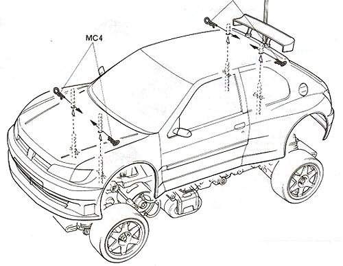 58224 Tamiya Peugeot 306 Maxi Wrc Ff 02 Radio Controlled