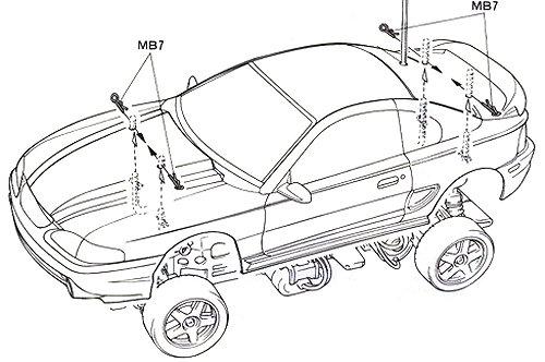 Tamiya Ford Mustang Cobra-R #58228 TL01 Body Shell