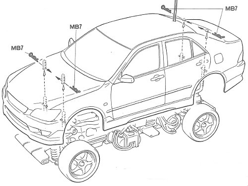 Tamiya Lexus IS 200 #58237 TL-01 Body Shell