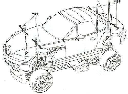 Tamiya BMW M Roadster #58240 M-04L Body Shell