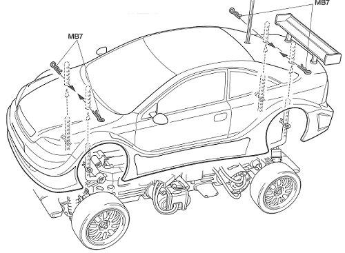 Tamiya Opel V8 Coupe #58263 TL-01 Body Shell