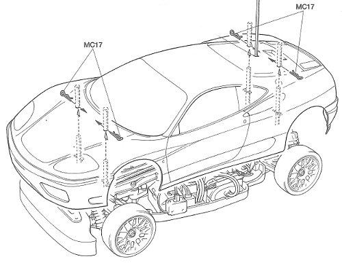Tamiya Ferrari 360 Modena Challenge #58266 TA04 Body Shell
