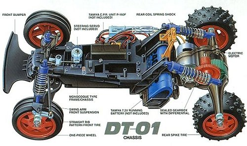 Tamiya Mad Fighter #58275 DT-01 Chassis