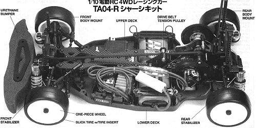 Tamiya HKS Racing Altezza #58276 TA-04R Chassis