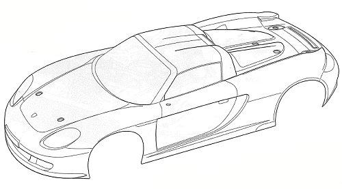 Tamiya Porsche Carrera GT #58322 TB02 Body Shell