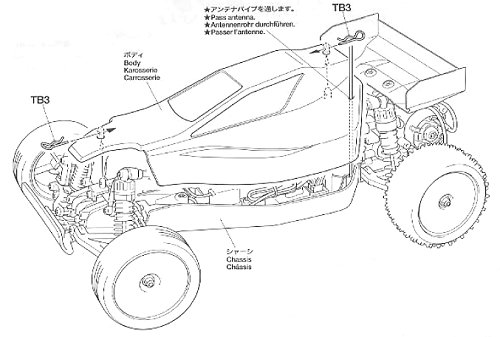 Tamiya Sand Viper #58374 DT-02 Body Shell
