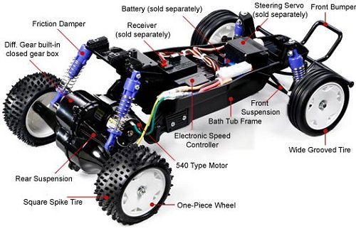 Tamiya Rising Fighter #58416 Chassis