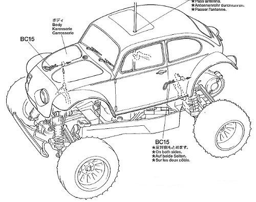 Tamiya Blitzer Beetle 2011 #58502 Body Shell