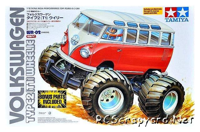 Tamiya Volkswagen Type 2 Wheelie (T1) - #58512 - 1:12 Electric Model