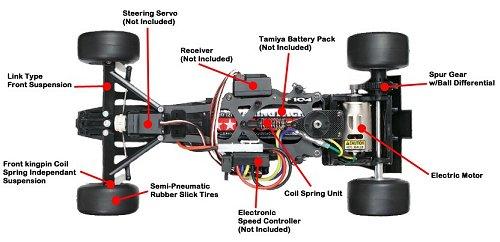 Tamiya Ferrari F2012 - F104 - #58559 Chassis