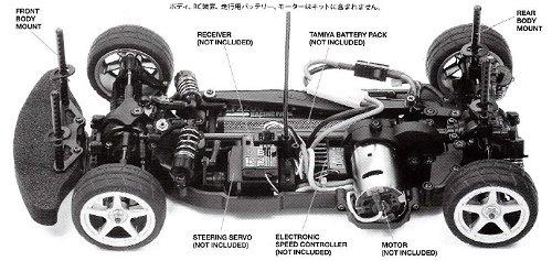 Tamiya Raybrig NSX Concept GT - TB04 #58598 Chassis