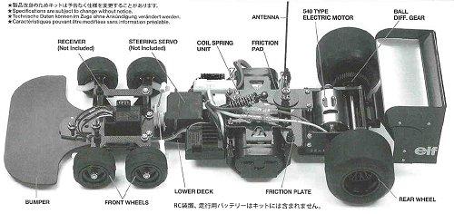 Tamiya Tyrrell P34 Six Wheeler 1976 Japan GP #84111 F103 Chassis