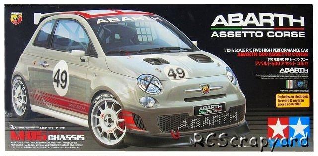 Tamiya Abarth 500 Assetto Corse - #58444 M-05
