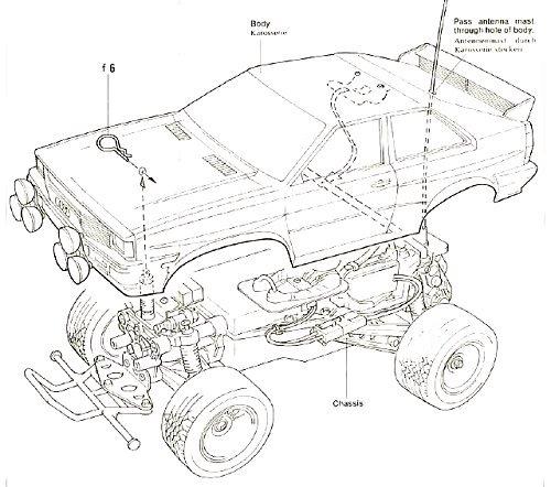 Tamiya Audi Quattro Rally #58036 Body Shell