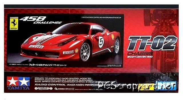 Tamiya Ferrari 458 Challenge - TT-02  #58560