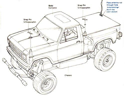 Tamiya Ford F-150 Ranger XLT #58027 Body Shell