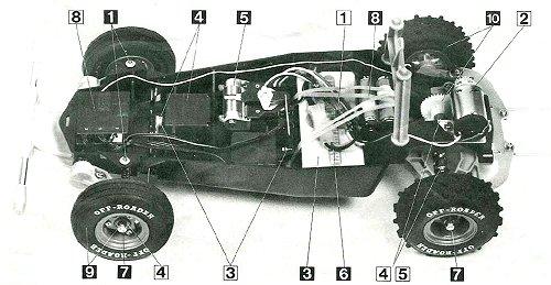Tamiya Holiday Buggy #58023 - Chassis Diagram