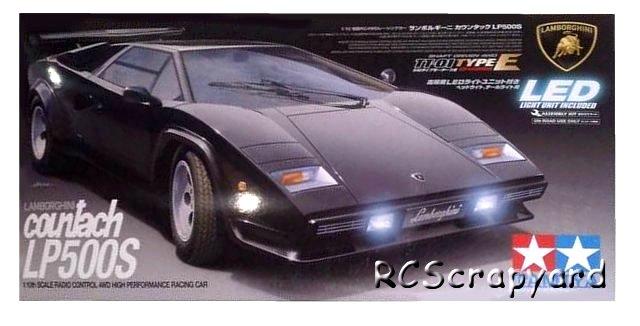 Tamiya Lamborghini Countach LP500S - #58413 TT-01 Type-E