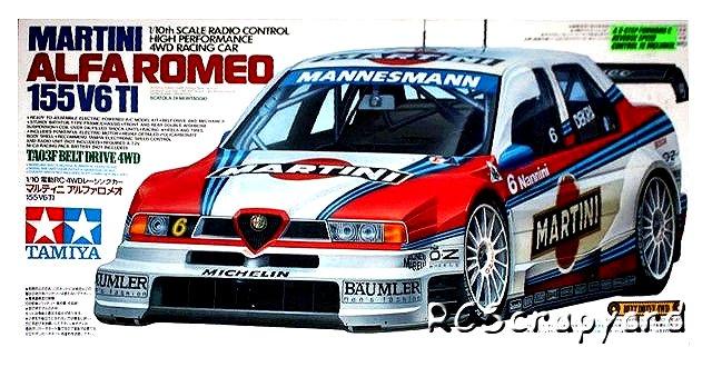 Tamiya Martini Alfa Romeo 155 V6 TI - #58189 TA03F