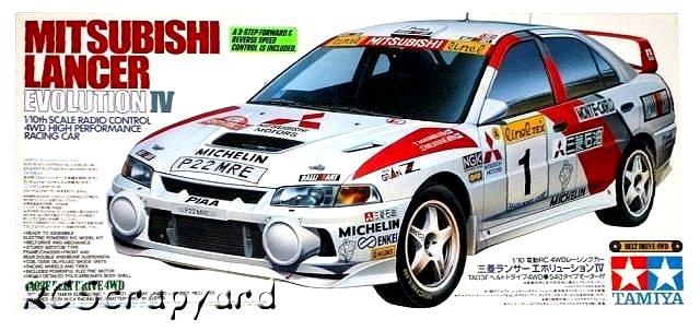 Tamiya Mitsubishi Lancer Evolution IV - #58199 TA-03F