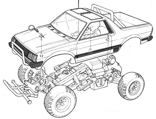 Tamiya Subaru Brat #58038 Body Shell