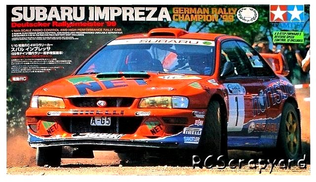 Tamiya Subaru Impreza German Rally Champion 99 - #58259 TB-01