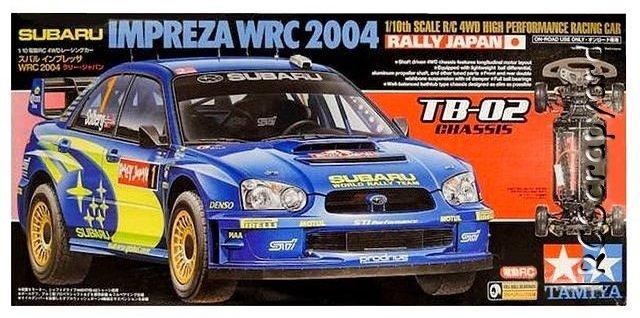 Tamiya Subaru Impreza WRC 2004 Rally Japan - #58338 TB-02