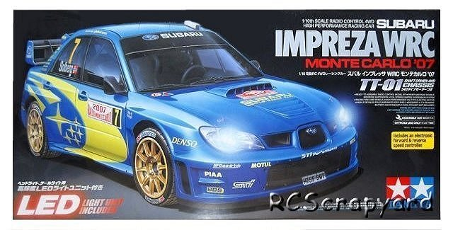 Tamiya Subaru Impreza WRC Monte Carlo 07 - #58390 TT-01