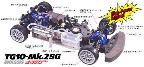 Tamiya TG10 Mk2 SG Chassis