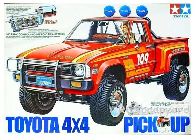 58028 tamiya toyota hilux 4x4 pick up radio controlled model archive rcscrapyard. Black Bedroom Furniture Sets. Home Design Ideas