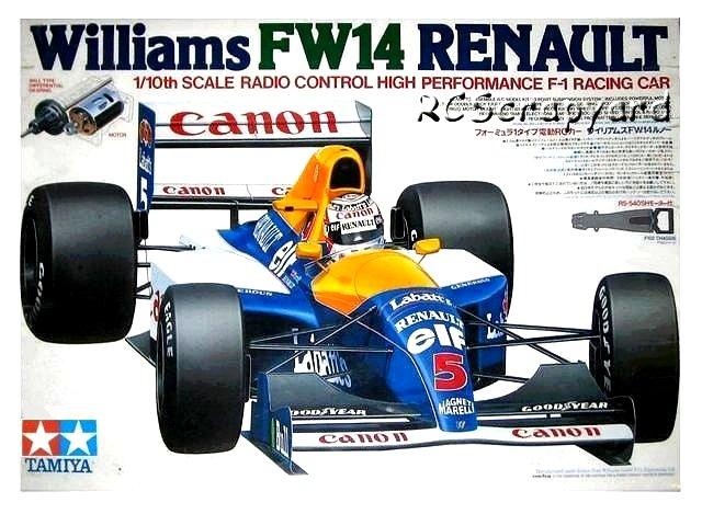 Tamiya Williams FW14 Renault - #58105 F102