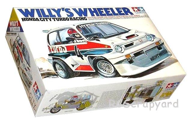 Tamiya Willys Wheeler, Honda City Turbo Racing, Stunt Car - #58039