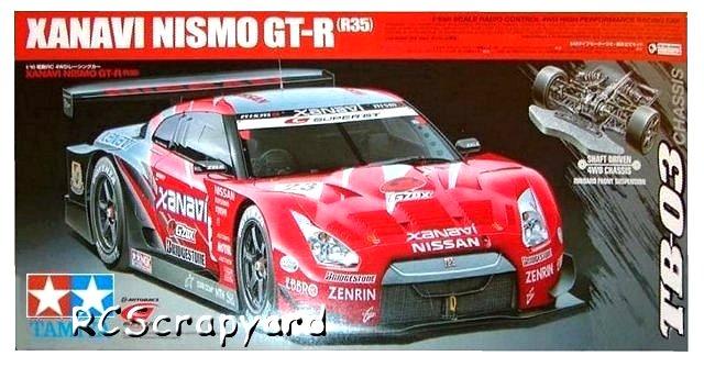 Tamiya Xanavi Nismo GT-R R35 - #58412 TB03