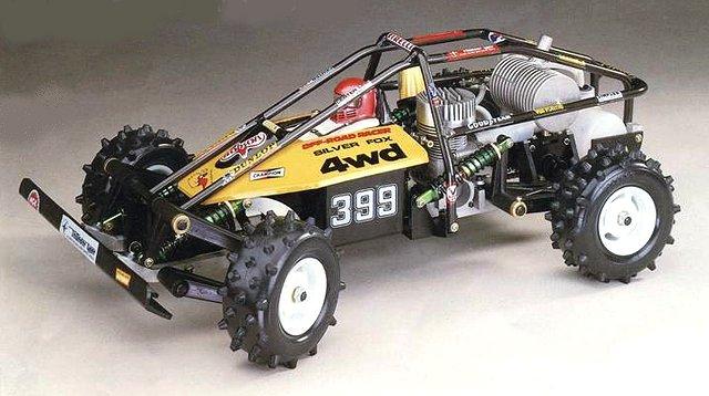Thunder Tiger Silver Fox - Vintage 1:8 Nitro RC Buggy