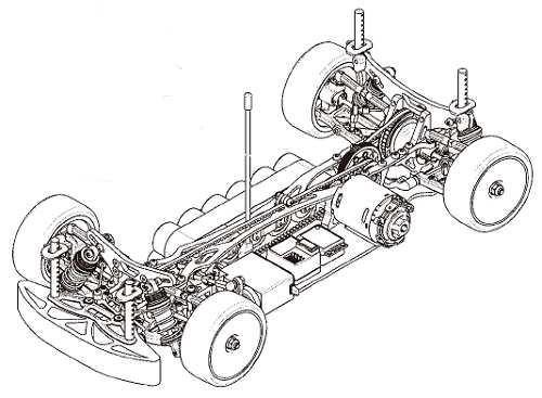 Yokomo MR4TC BD5 Chassis